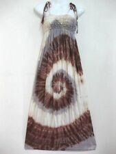 New Tie Dye Tie Shoulder Strap Maxi Dress Spiral Sundress Bohemian Gypsy Hippy