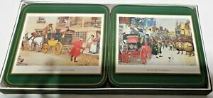 Harrods Knights Bridge Dickensian Scenes Coasters Set