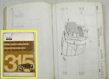 Ersatzteilkatalog Fiat 315 Traktor Ersatzteilliste Catalogo Parti Parts List 65