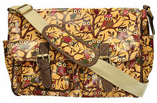 New Cute Owl Bird Womens School Satchel Bag Messenger Ladies Handbag Crossbody