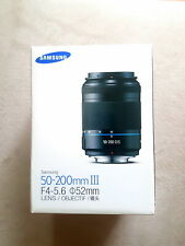 In Box Samsung NX LENS 50-200mm f/4.0-5.6 NX ED OIS III TOP CONDITION WORKs 100%