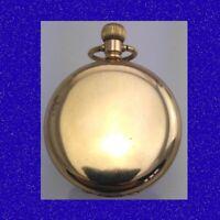 Retro & Vintage 14k Gold Elgin RailWay 17 Jewel Deco Hunter Pocket Watch 1922