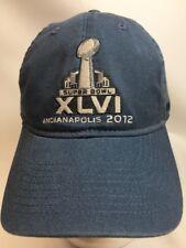 Super Bowl XLVI Indianapolis 2012 NFL Team Apparel Reebok Adjustable Hat Cap New