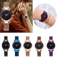 Women Starry Sky Belt Watch Magnet Strap Buckle Stainless Casual Wrist Watch