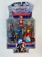 ToyBiz Capcom 1998 Darkstalkers 3 Jon Talbain & Baby Bonnie Hood Figure Set Game