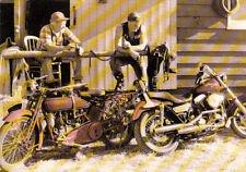 Carte postale MOTO MOTOCYCLETTE HARLEY DAVIDSON old harley