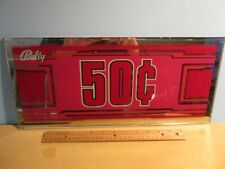 "BALLY's CASINO 50 Cents Slot Machine BELLY GLASS 17 1/2 x 8"""