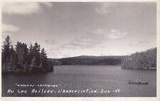 Lac Boileau du Camp Lefebvre L'ANNONCIATION Quebec 1940-50 Charpentier RPPC 48