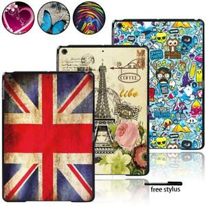 "Fit Apple iPad 8 10.2"" 2020 8th Gen Tablet Smart Hard Printed Case Cover + Pen"