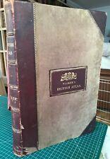 1874 Walker's British Atlas .  Complete & Rare. John and Charles Walker