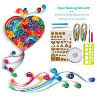 9Pcs Starter Quilling Paper Art Kits Cork DIY Workboard Slotted Tools Set Kit