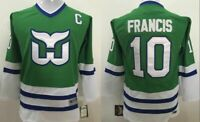 Youth Hartford Whalers Hockey Jersey Ron Francis Green size S/M; L/XL