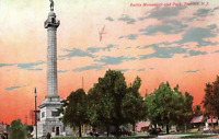 VINTAGE POSTCARD BATTLE MONUMENT AND SPRAWLING PARK AT TRENTON NEW JERSEY 1912