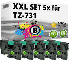 5x Farbband kompatibel Brother P-Touch PT E100 1230 H100R H300 D200 H105 TZ-731