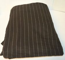Ralph Lauren Metropolitan Place Brown Pinstripe Queen Bedskirt