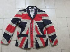 Rhino Rugby Union Jack Blazer Flag Jacket red white blue Medium / Large size 42""