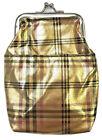 Eclipse Gold Plaid Vinyl Cigarette Pouch Case, 2ct, Change Purse, 100s, 3201G
