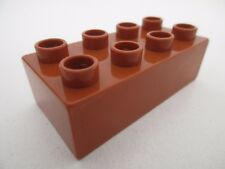 LEGO DUPLO 3011 - x1 Brique Brick 2x4 - Dark Orange Brun Clair