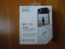 olloclip 4-IN-1 for iPhone 6/6s and 6/6s Plus Lens Silver Lens/White Clip