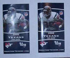 2 2008 HOUSTON TEXANS Fan Guide/Schedule-ANDRE JOHNSON