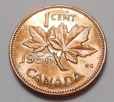 1956 Small Cent GEM PROOF-LIKE ** STUNNING Early Queen Elizabeth II Canada Penny