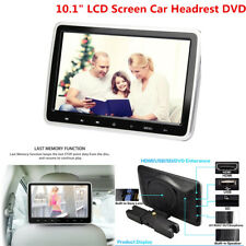"""NEW 10.1"""" LCD Screen Car Headrest DVD/Game/FM Player Support USB/SD Card Port"""