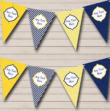 Yellow Blue Polkadot Nautical Sailing Beach Seaside Themed Bunting Banner