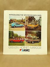 Vtg 1975 AMC Brochure Book Gremlin Hornet Hatchback Sportabout Matador Features