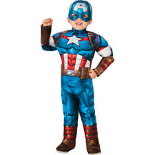 Marvel Captain America Costume PJ PALS for Baby Size 12-18 MO Multi