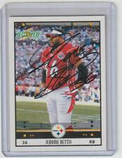 JEROME BETTIS Steelers SIGNED 2005 Score Football #318 Autograph ON CARD AUTO