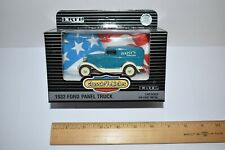 Ertl Classic Vehicle 1933 Ford Panel Truck Diecast Metal 1/43 Daisey Flower Blue