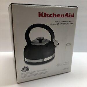 Kitchenaid Porcelain Enamel 2 Quart Kettle Black BRAND NEW IN BOX