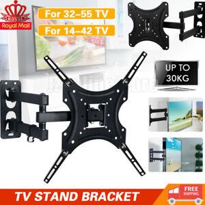 TV Wall Bracket Stand Tilt & Swivel for 32 37 40 42 43 50 55 Inch Monitor LCD UK