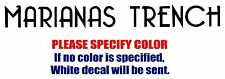 Marianas Trench Band Graphic Die Cut decal sticker Car Truck Boat Window 8""