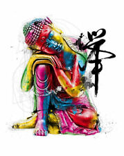 A5 Fridge Magnet - Abstract Colourful Buddha (Picture Buddhism Buddhist Artwork)