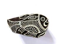 Indischer Holzstempel Fisch Textilstempel Tattoo Henna Stempel Nr. 1610