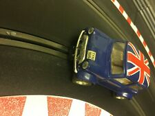 SCALEXTRIC Mini cooper blue union jack roof  new rear tyres & pinion