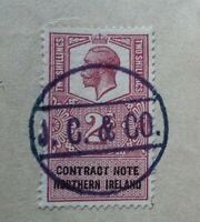 George VI 1947 2/- Revenue Contract Stamp Note Northern Ireland Stock Exchange