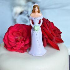 Traditional Bridesmaid or Prom Lavendar Purple Dress Cake Topper