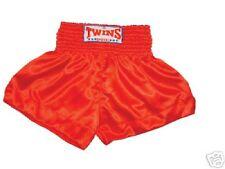 Twins Muay Thai shorts Satin uni red. Gr. X - XXL. Kickboxen, MMA, Thaiboxen,usw