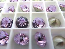 6 Violet Foiled Swarovski Crystal Chaton Stone 1088 39ss 8mm