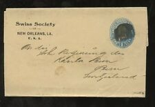 NEWSPAPER POST 1898 SWISS SOCIETY PRIVATE ORDER USA 1c WRAPPER NEW ORLEANS