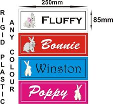 Rabbit hutch door personalised name plaque sIgn plate chinchilla gerbil rat pets
