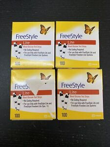 400 Freestyle Lite Diabetic test strips