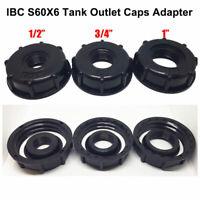 """60mm 1 """"1/2"""" 3/4 """" Plastique IBC Eau  Réservoir Couvercle Adaptateur Universel"""