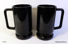 "2 - Black Coffee Hot Cocoa Mugs / CUPS 12oz 5 ½"" tall FREE SHIPPING"