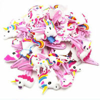 1/6/12Pcs Cartoon Unicorn Pattern HairPin Soft Animals Hair Clip Jewelry Kids