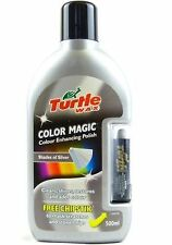 TURTLE WAX COLOUR MAGIC SILVER CAR WAX POLISH PLUS FREE CHIPSTIK