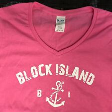 Block Island Ladies V-Neck T-shirt XXL