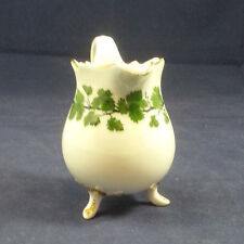 Unusual Meissen Green Vine Footed Creamer w Gold Accents - 1st Quality